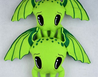 Cutie Cthulhu Stuffie / Stuffy  FOUR sizes ITH machine embroidery design