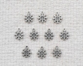 Tibetan Silver Snowflake Charms in Sets of 10                                                                            10/2017