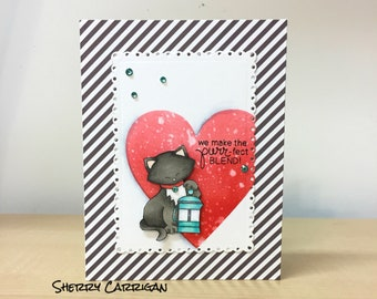 Handstamped and colored All Occasion Card