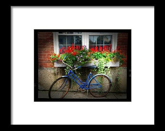 Bicycle and Flowers...Signed & Matted Color Fine Art Photograph