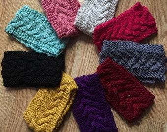READY TO SHIP Knitted Headband, ear warmer, cable knit headbands,turban, cozy headband,fashion warm accessory