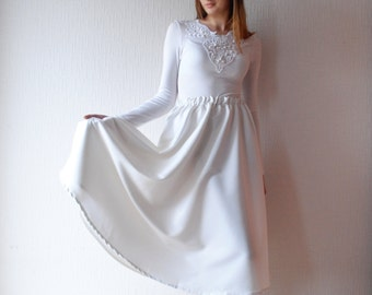 White nautical dress   Etsy