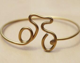 Gold Bike Bicycle Spoke Bracelet