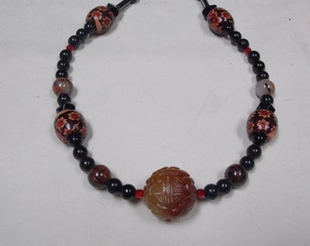 Hand made one of a kind Necklace Serpertine