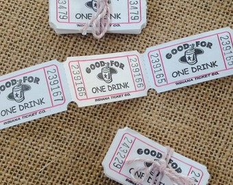 25 Wedding Party/Special Occasion Drinks Tokens Retro Vintage Favours NEW!