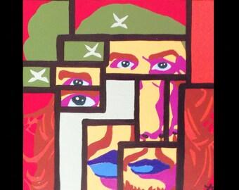Original contemporary painting Che Pop