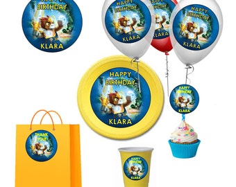 Legends of Chi Digital Birthday Party Balloon, Toppers, Circle Stickers DIY Printable Labels