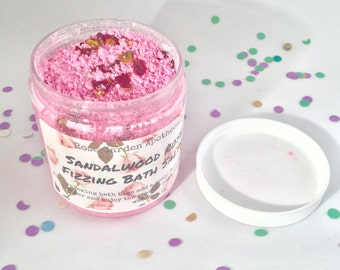 Sandalwood Rose Fizzing Bath Salts>Valentines Day gifts>Spring Bath and Beauty>Wedding Party Gifts>