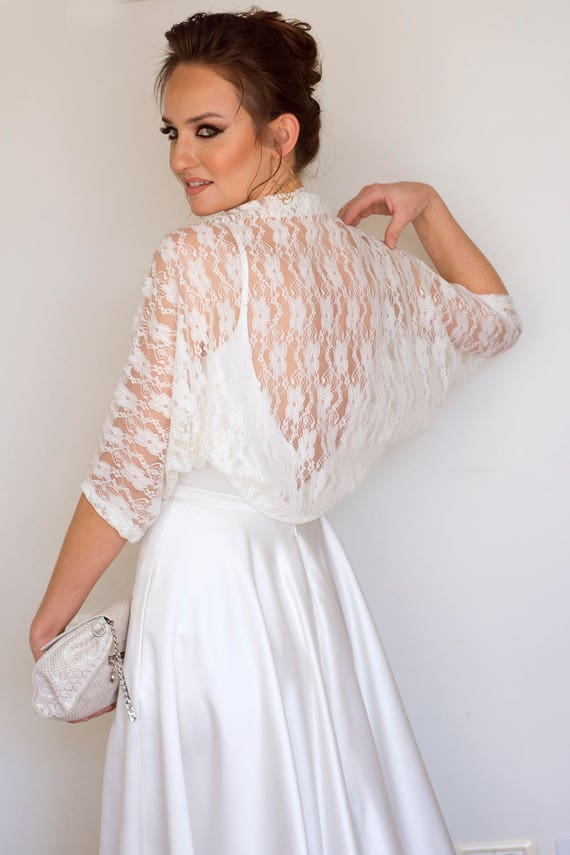 Wedding dress sleeves taupe shawl bridal coverup taupe lace