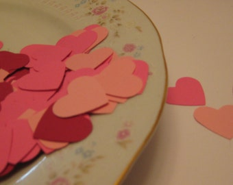 150 Hearts Hand Punched / Heart  Die Cuts / Scrapbooking Embelllishments / Card Embellishments / Confetti / ANY COLORS