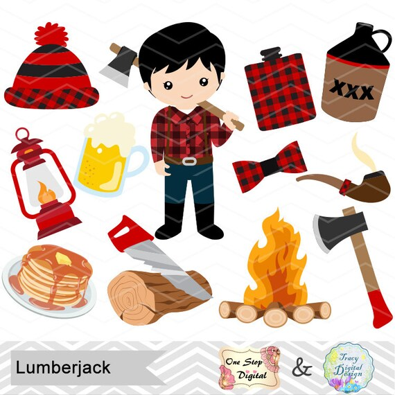 instant download lumberjack clip art paul bunyan clipart rh etsy com paul bunyan clip art free Paul Bunyan Silhouette