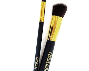 Kid's Pretend Play Makeup - 2 Brush Set  - No color, No mess! - fake makeup - kids cosmetics - pretend - kids makeup - toy