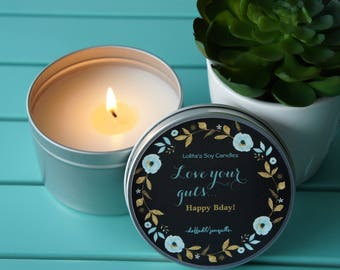 Scented Soy Candle /'LOVE YOUR GUTS'/Daffodil/Handpoured