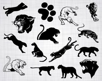 panther clipart etsy rh etsy com clipart pink panther clip art panther paw