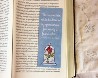 Beauty and the Beast Disney Quote Bookmark