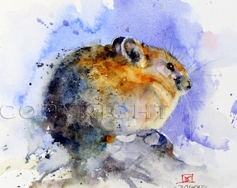 PIKA Mouse Watercolor Print by Dean Crouser