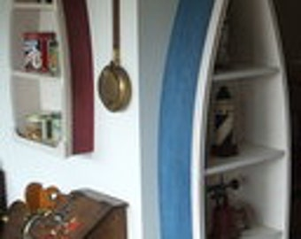6 Foot  row Boat Bookshelf Bookcase shelf Nautical cabin and office Decor Hand wooden boat