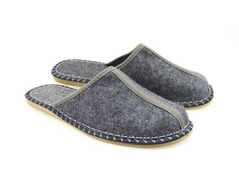 Handmade Felted Slippers | Folk-Inspired Shoes for Men