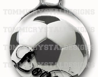"1.5"" Soccer MOM Soldered Art Collage Charm (also comes with no wording)"