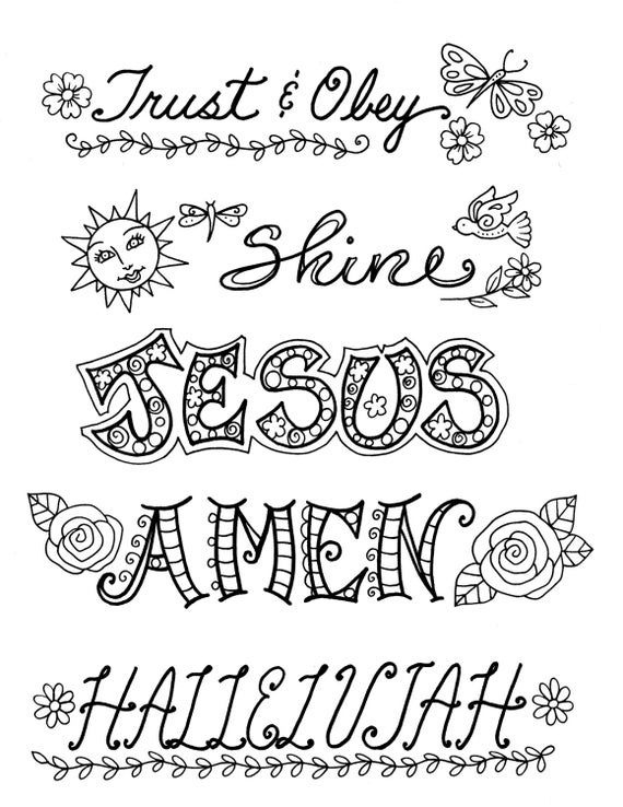 Best Bible Journaling Templates Clip Art Christian 5 pages create PP86