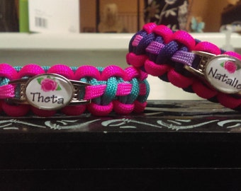 Mother/Daughter Paracord Bracelet Set - FREE SHIPPING