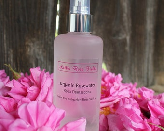 Organic Rosewater - Facial Toner Body Spray Rosa damascena - from the Bulgarian Rose Valley