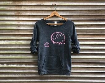 me and mama Hedgehog Sweatshirt, GIft for Mom, Hedgehog Sweater, Eco Friendly Top, New Mom Gift, S-XL