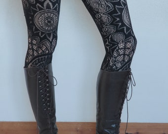 90's victorian lace up brown leather boots size 38