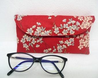 Glasses case in Japanese, bezel, bezel women's clutch red sunglasses cases accessories