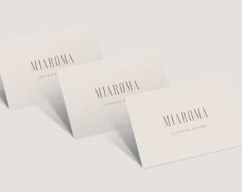 Beige, Taupe, Business Card Design, Business Card Template, Modern Business Card, Classy Business Card, Elegant Business Card, Professional