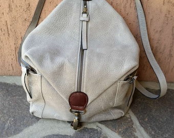 Rucksack gray leather