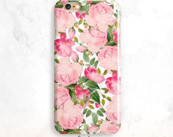 iPhone 8 cas, Vintage Roses iPhone 7 cas, Floral pour iPhone X, iPhone 6 Plus, iPhone 6 s cas, roses Roses iPhone 6 cas, Floral pour iPhone 5