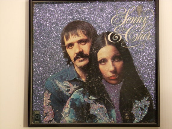 Glittered Record Album - Sonny and Cher - The Two Of Us