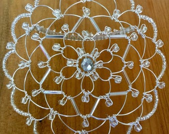 Silver Star of David Women's Wire Kippah