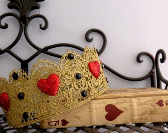 Queen of Hearts Lace Crown