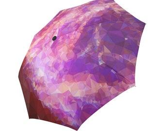 Purple Umbrella Magenta Umbrella Geometric Pattern Umbrella Rainbow Umbrella Photo Umbrella Automatic Foldable Umbrella Abstract Umbrella