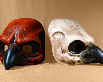 Bird Crow Skull latex Mask for LARP, Theatre, Costume, Cosplay, Carnival