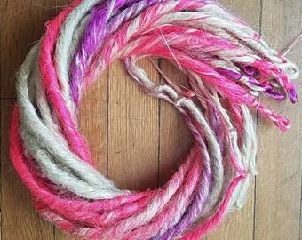 Unicorn Dreads Set Platinum/Pink/Purple