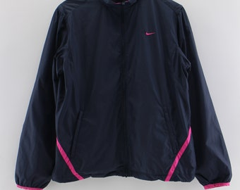 Vintage 90s NIKE Sportswear Windbreaker Jacket Ladies Xlarge Nike Swoosh Running Jacket Activewear Nike Outfit Trainer Jacket Ladies Size XL