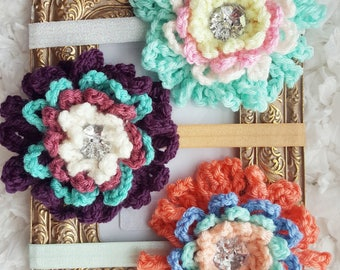 Unique Newborn baby gifts for girls, Flower Headband, Baby Headband