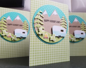 Father's Day Card for the Camper, Camping Life, Dad's Day Card for the Outdoorsman, Trailer Cards for Men, Campsite, RV Gifts, Happy Camper