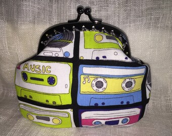 Cassette Tape Coin purse with kiss clasp