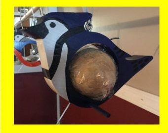 Suet Bluejay Seedball Feeder