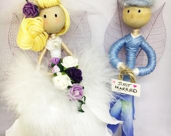 Custom Bride & Groom Fairies