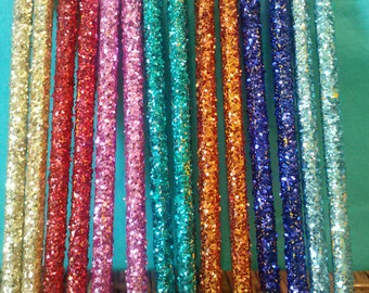 Glitter Pencils, (Wooden), (Your Choice of Color), Pink Pencils, Blue Pencils, Silver Pencils, Gold Pencils, Purple Pencils, Red Pencils