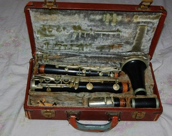 Clarinet Normandy Made by Noblet Rare All Wood Musical Instrument Special Made in France