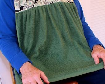 Senior Shirtsaver in Money Print, Adult Bib