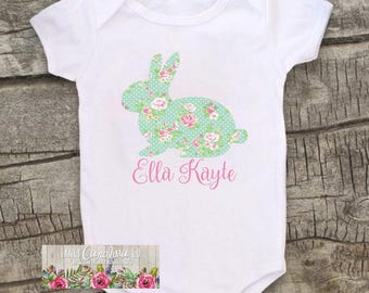 Babys First Easter Bodysuit- Baby Girl First Easter- Girl Easter Outfit-First Easter Bodysuit-Girl Easter Shirt-Baby Girl Bodysuit