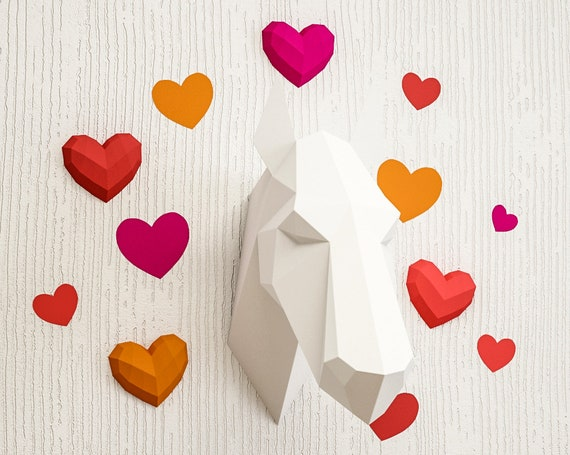 Background hearts for papercraft 3d sculptures printable pdf kit background hearts for papercraft 3d sculptures printable pdf kit paper craft pattern pepakura blueprint how to make own origami statue from inartcraft malvernweather Images
