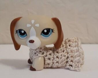 Lps dauschaund handmade dress (littlest pet shop figure NOT included)